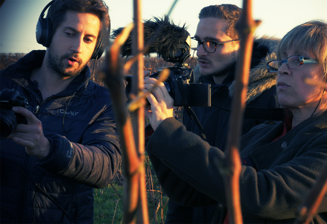 équipe de stagiaire en tournage