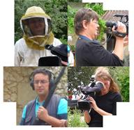 équipe tournage apiculteur