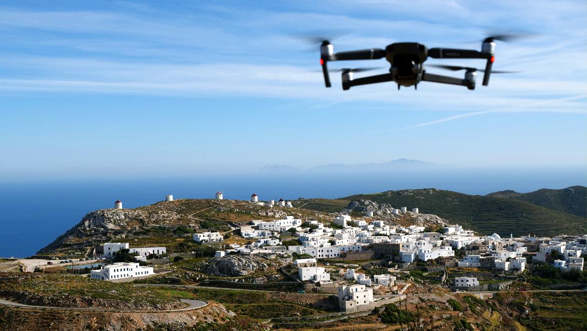 flight drone greece