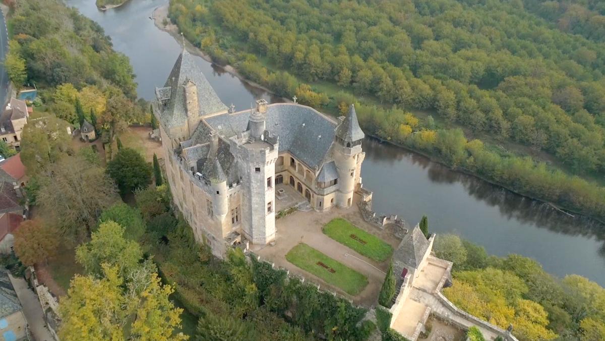 vue drone château