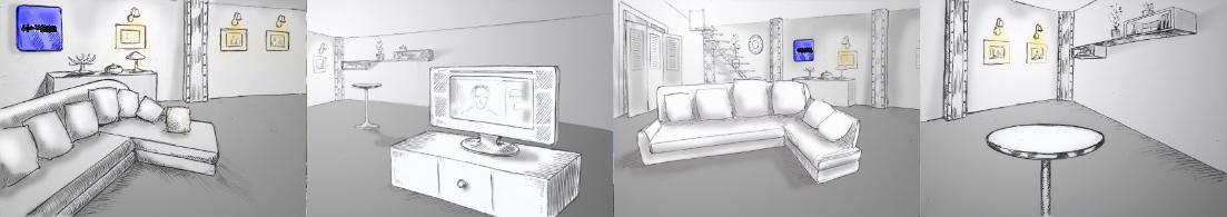 création d'un plateau tv décors