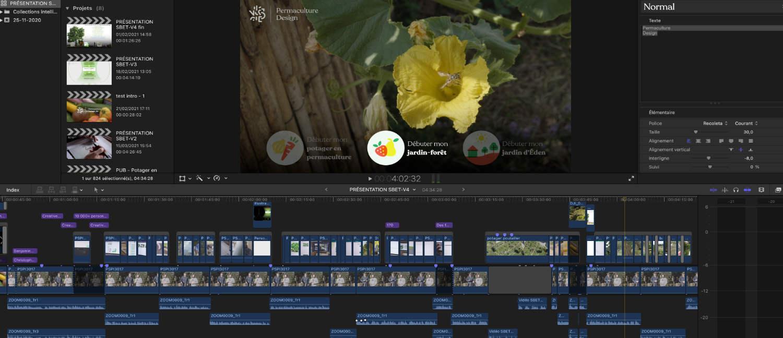 montage pour vidéos de permaculture